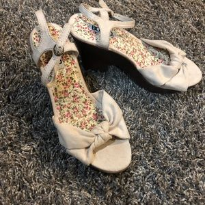 Suede Summer Sandals Size 8